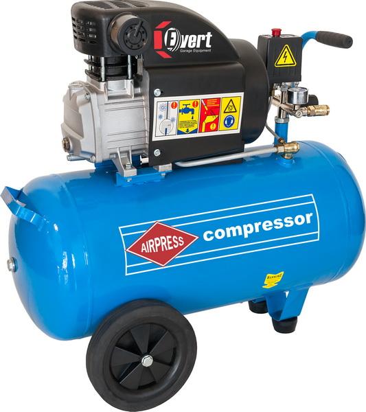 Compresor cu piston Evert, rezervor 50l. debit 325 l/min, 1,8kW, presiune max.: 8bar, alimentare 230V; 2800rot/min; 34kg [0]