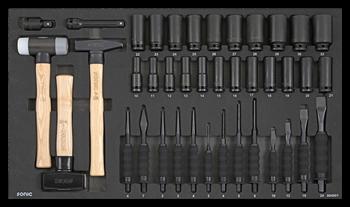 Dulap scule echipat cu piese: 644 piese, SONIC HEAVY DUTY TRUCK S10 negru 8 sertare [9]