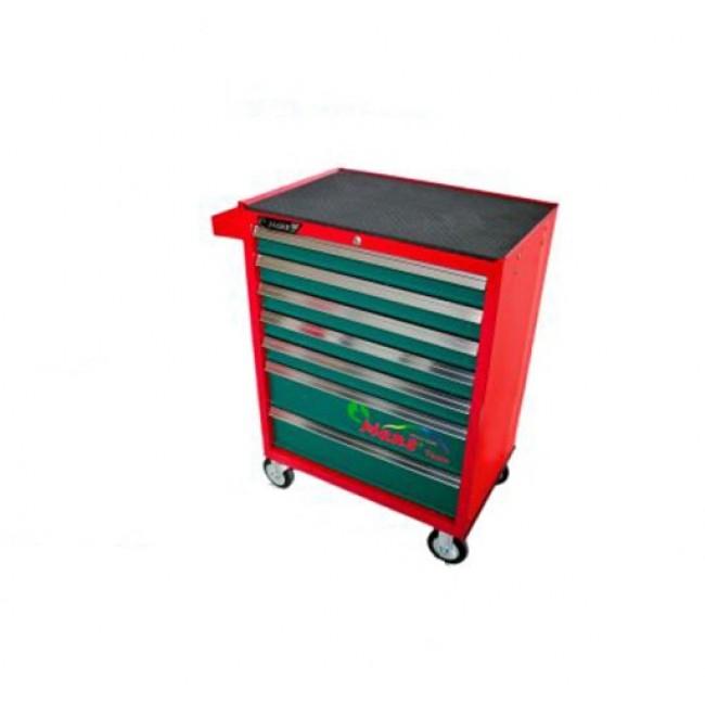 Dulap scule HANS echipat cu 168 piese, rosu/verde 8 sertare [0]