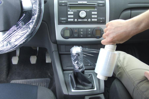 Husa folie protectie volan si schimbator 150 ml 1
