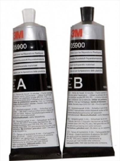 Kit bicomponent A+B reparatie material plastic 2x150ml 3M [0]