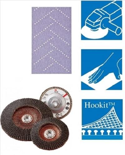Kit Coli abrazive Hookit Purple Multihole+ Bloc 70x396mm flexibil/reglabil  3M 0