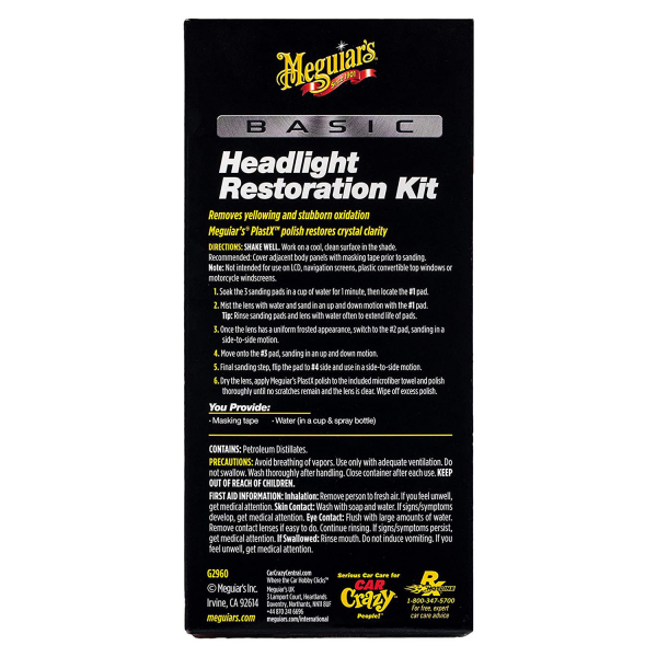 Kit restaurare faruri MEGUIAR'S BASIC HEADLIGHT RESTORATION KIT 2