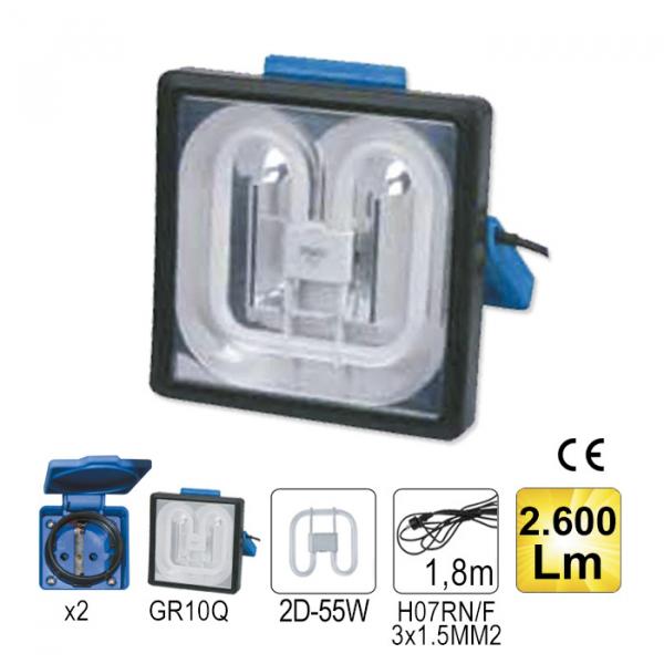Lampa control patrata 55W 2600Lm 0
