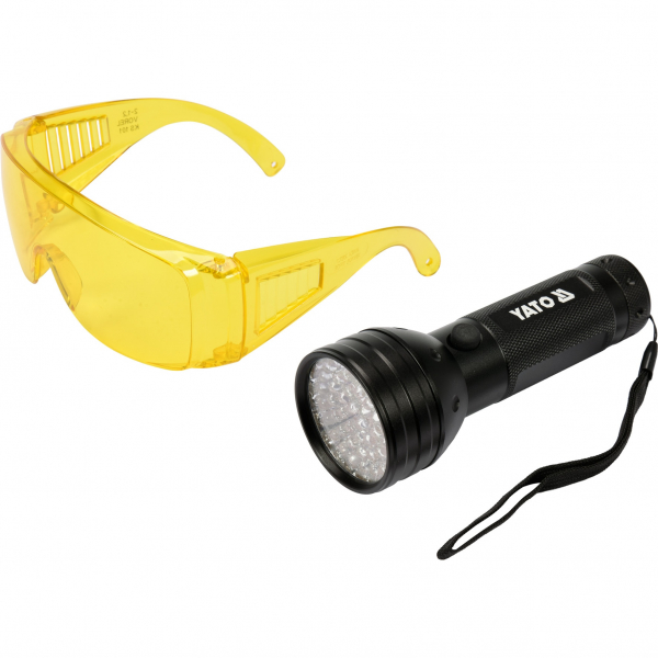 Lampa UV cu ochelari speciali detectare scurgeri agent refrigerant 0