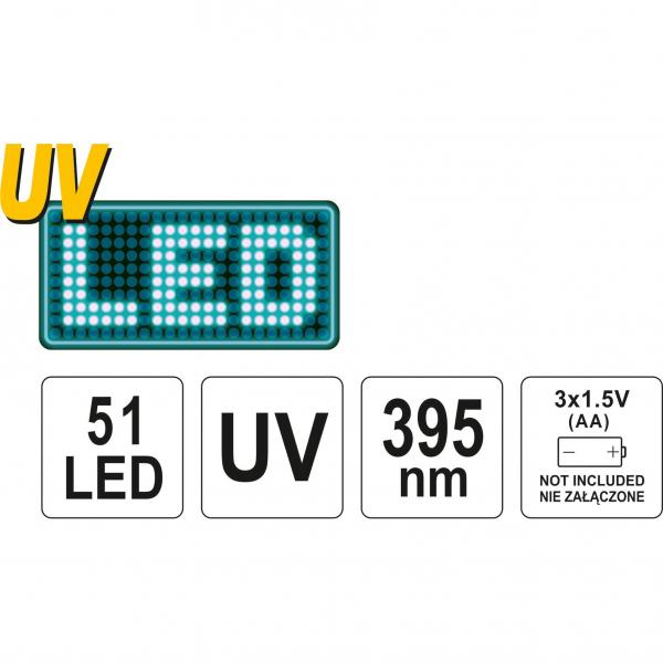 Lampa UV cu ochelari speciali detectare scurgeri agent refrigerant 4