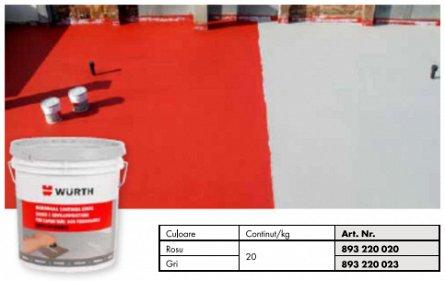Membrana lichida hidroizolanta elastica (rosu) 20 kg IMPELAST Wurth [0]