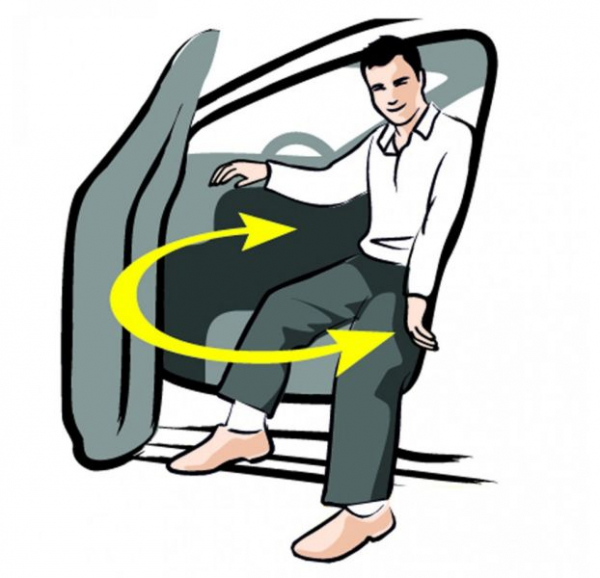 Perna rotativa scaun auto (poliester, 39x8) [2]