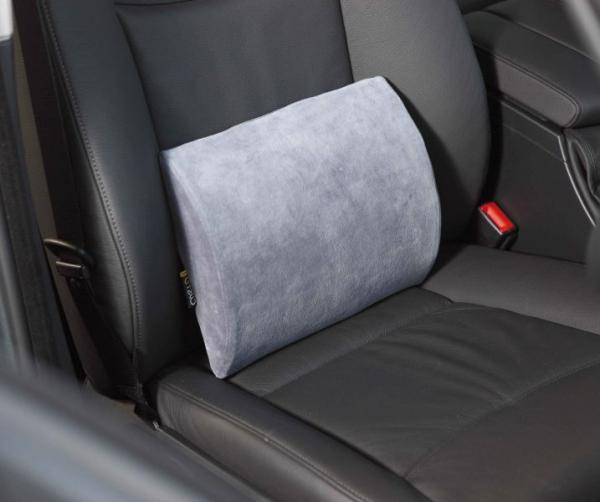 Perna scaun sustinere lombara Grand Comfort (poliester, anatomica, pentru masina, birou , casa, spuma de memorie, 30x27x7 cm) [0]
