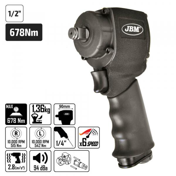 "Pistol impact pneumatic NANO 1/2 ""(678Nm) [1]"