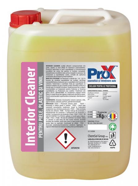 Soluție pentru curățat piele, plastic și vinil, INTERIOR CLEANER bidon 5kg 0