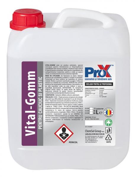 Solutie refresh cauciuc si plastic VITAL-GOMM bidon 10L [0]