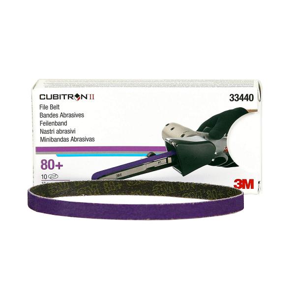 Set 10 benzi Cubitron II FIle Belt P80  3M 0