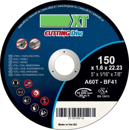 Set 5 bucati disc debitare otel/inox 150/1.6 0