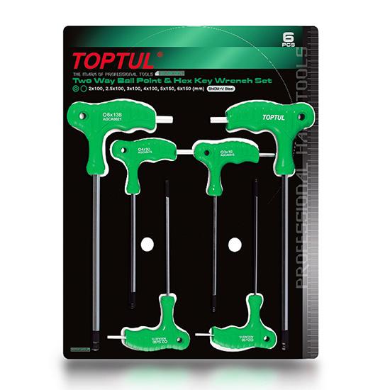 Set 6 chei imbus maner tip T  2-5mm Toptul 0