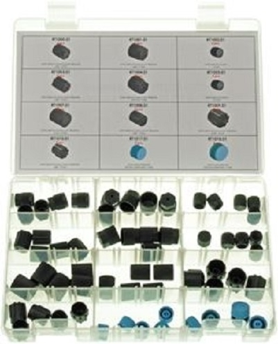 Set 60 bucati piulite dopuri conexiuni HP / LP sistem climatizare aer conditionat auto [0]