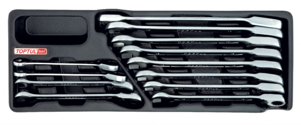 Set chei cu clichet  Ratchet 8-19mm 12 piese 0