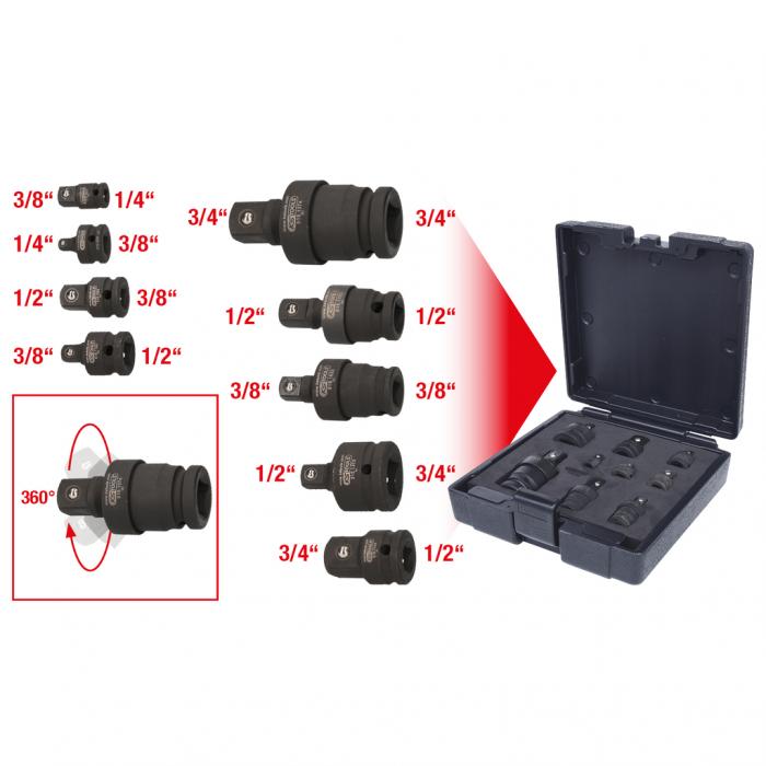 Set de adaptoare de forta de marire si reducere 9 piese 7