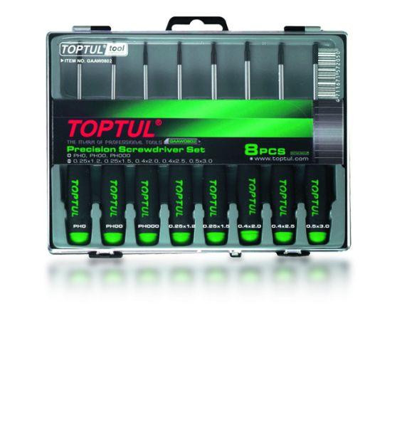 Set surubelnite precizie Torx, Toptul 8 piese  T5-T20 0