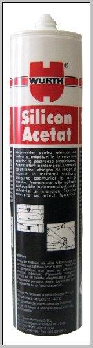 Silicon acetat gri Wurth, 310 ml 0