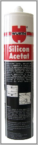Silicon acetat negru Wurth, 310 ml 0
