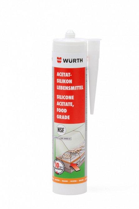 Silicon alimentar argintiu 310 ml Wurth 0