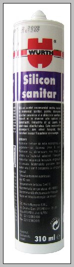 Silicon sanitar transparent 310 ml Wurth [0]