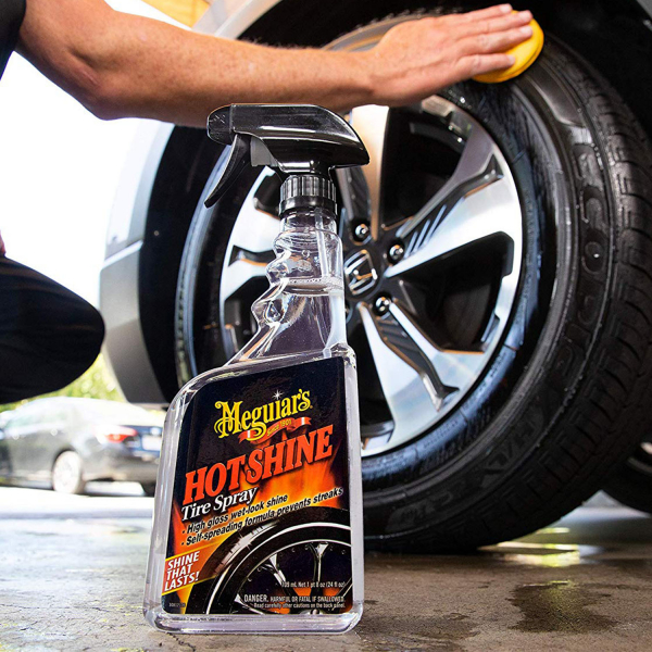 Spray curatare anvelope MEGUIAR'S HOT SHINE TYRE DRESSING 710ml 2