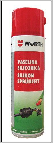Spray vaselina alba cu silicon Wurth,  500 ml 0