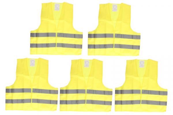 Vesta reflectorizanta (culoare galben, cantitate 5 bucati) [0]
