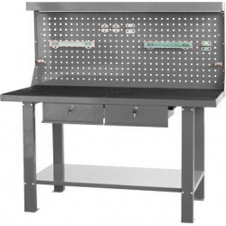 Banc de lucru cu 2 sertare metal 1500x1550x640