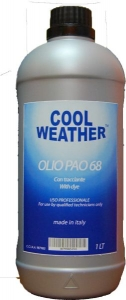 Ulei refrigerant cu substanta UV PAO 68 OIL UV 1 L sistem climatizare aer conditionat Magneti Marelli