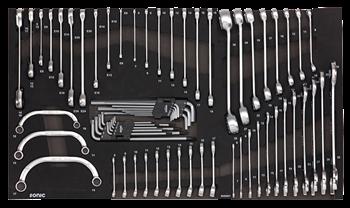 Dulap scule echipat cu piese: 644 piese, SONIC HEAVY DUTY TRUCK S10 negru 8 sertare [10]