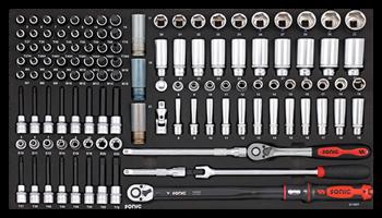Dulap scule echipat cu piese: 644 piese, SONIC HEAVY DUTY TRUCK S10 negru 8 sertare [6]