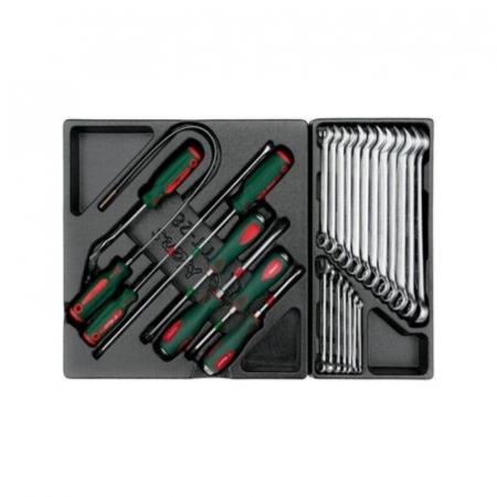 Dulap scule HANS echipat cu 202 piese, rosu/verde 8 sertare [4]
