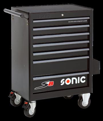 Dulap scule SONIC S8 echipat cu 156 piese, 7 sertare [3]