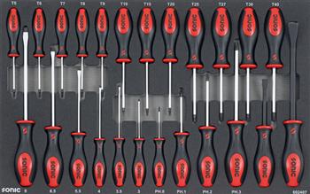 Dulap scule SONIC S8 echipat cu 241 piese, 8 sertare [4]