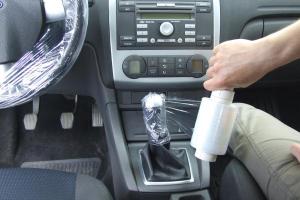 Husa folie protectie volan si schimbator 150 ml1