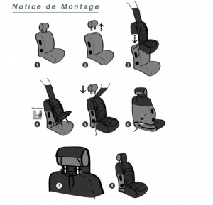 Husa scaun auto confort ridicat (poliester, compatibila cu airbag, tetiera integrata, burete cu memorie, 112x51) [2]