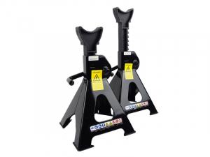 Set 2 suport sustinere, standuri culoare: negru, capacitate ridicare 3000 kg. (285-425 mm.)0