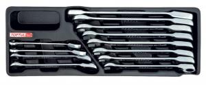 Set chei cu clichet  Ratchet 8-19mm 12 piese0