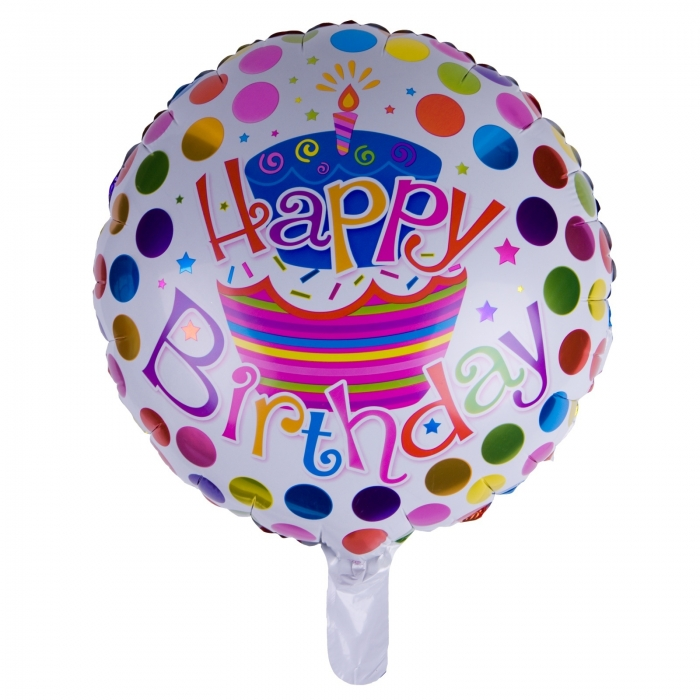 BALON FOLIE HAPPY BIRTHDAY BULINE 45 CM 0