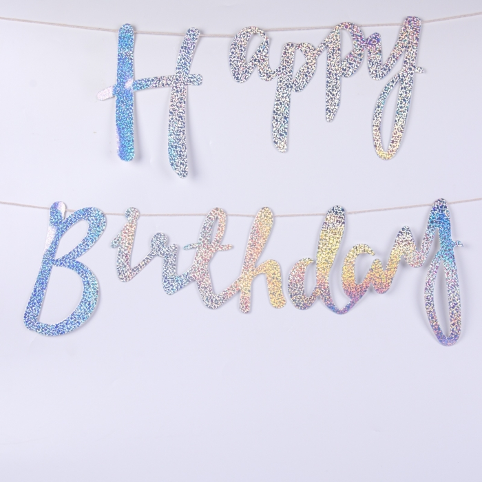 BANNER HAPPY BIRTHDAY GLITTER 1.45 M 0