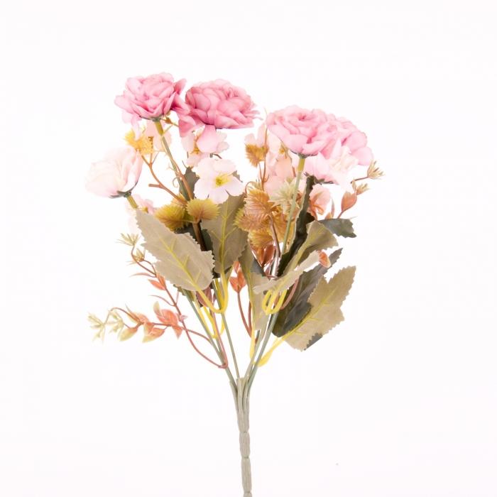 mini rosa trandafir artificial 0
