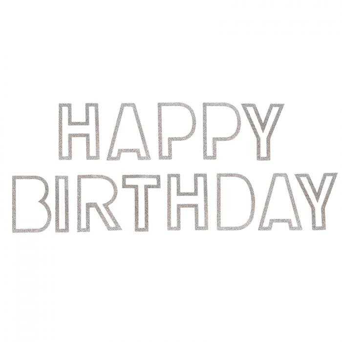 "GHIRLANDA GLITTER ""HAPPY BIRTHDAY"" [0]"