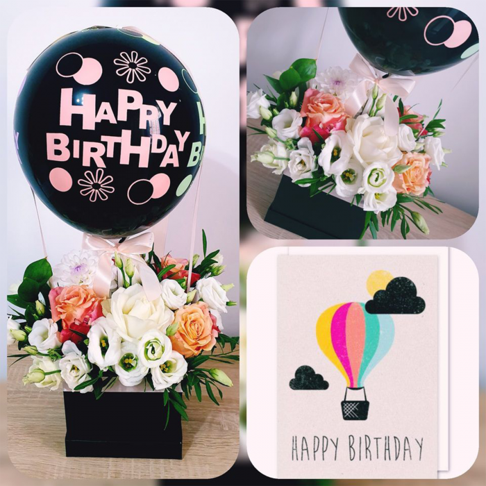 SET 5 BALOANE NEGRE ''HAPPY BIRTHDAY'' 30 CM 1