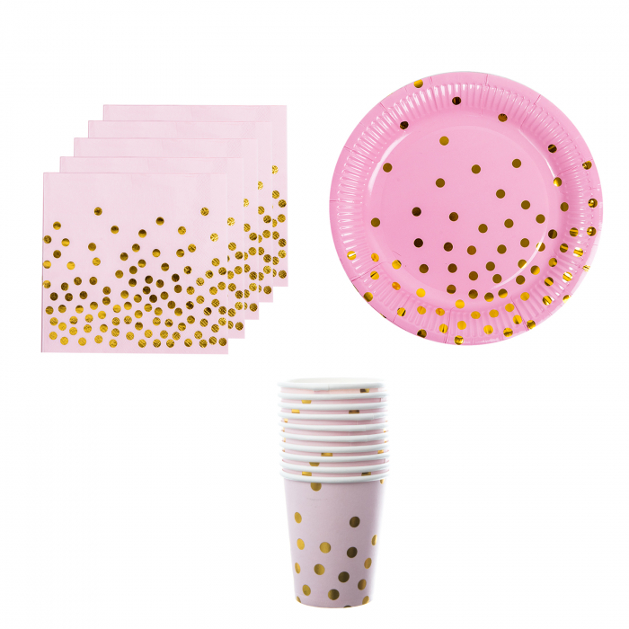 SET ACCESORII PARTY DOTS 0