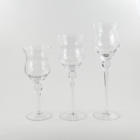 SET SUPORTI STICLA  ABBY TRANSPARENT0