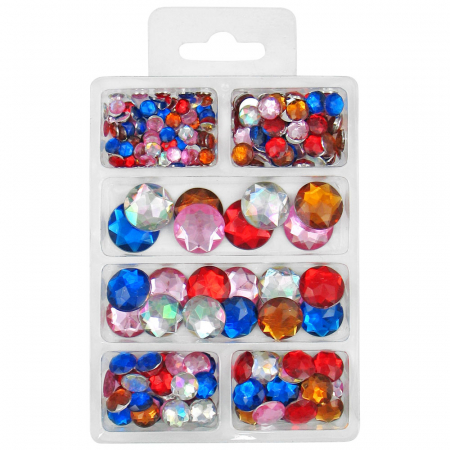Mix semisfere colorate, 6-18mm, 30 gr, 230 buc [0]