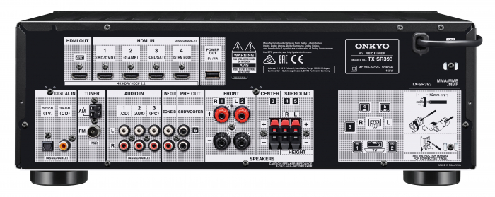 Receiver stereo Onkyo TX-SR393 3